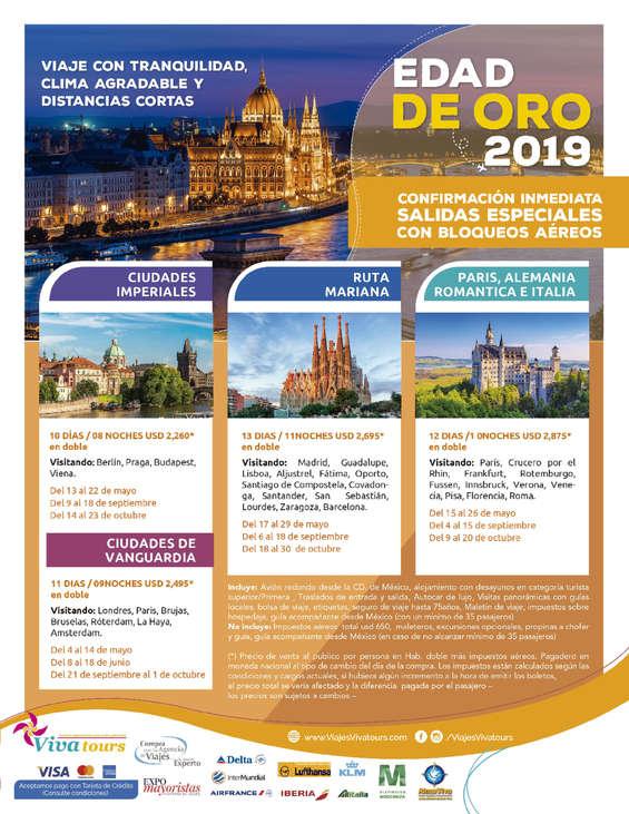Ofertas de Viva Tours, Edad de Oro 2019