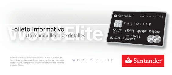 Ofertas de Santander, Folleto Informativo World Elite