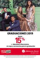Ofertas de Fábricas de Francia, Graduaciones 2019