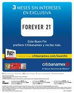 Ofertas de Forever 21, Meses Sin intereses en el Buen Fin