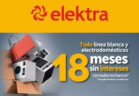 Ofertas de Elektra, Línea Blanca. 18 meses sin intereses