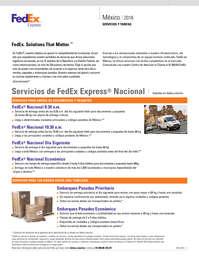 Servicios y tarifas México 2018