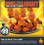 Ofertas de Las Alitas, Boneless Night