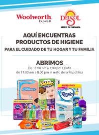 Aquí encuentras productos de higiene para el cuidado de tu hogar y tu familia