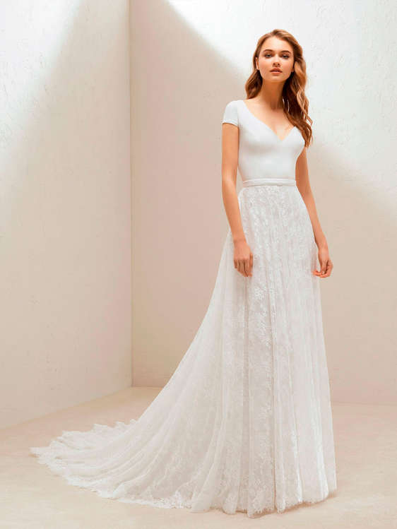 vestidos de novia con cola en santiago de querétaro - catálogos