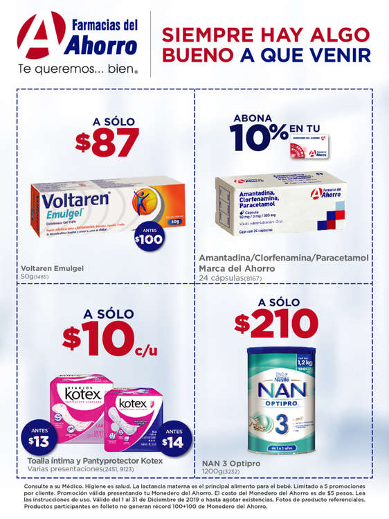 Ofertas de Farmacias del Ahorro, Siempre hay algo bueno a que venir - Productos estrella