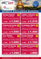 Ofertas de Viva Tours, Viaje a Europa