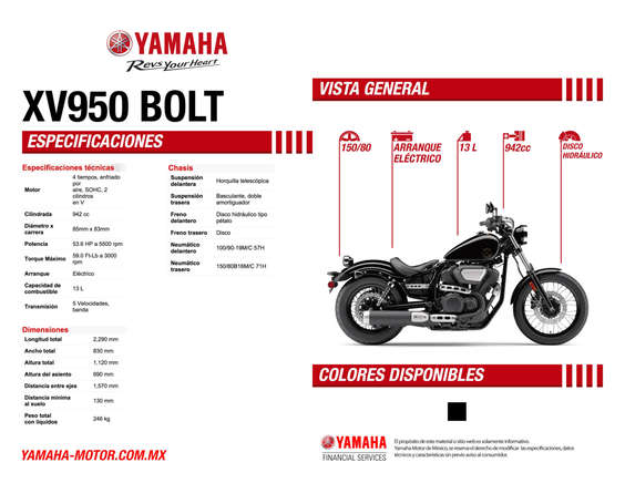 Ofertas de Yamaha, XV950 BOLT