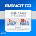 Ofertas de Benotto, Descuento INAPAM