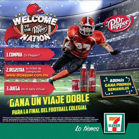 Ofertas de 7-Eleven, Welcome to the dr pepper nation
