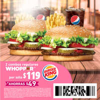 Cuponera Burger King
