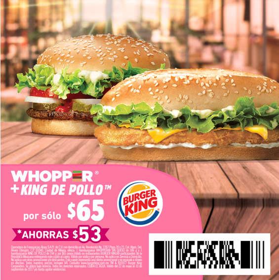 Ofertas de Burger King, Cuponera Burger King