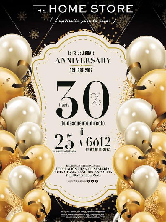 Ofertas de The Home Store, Let's celebrate anniversary