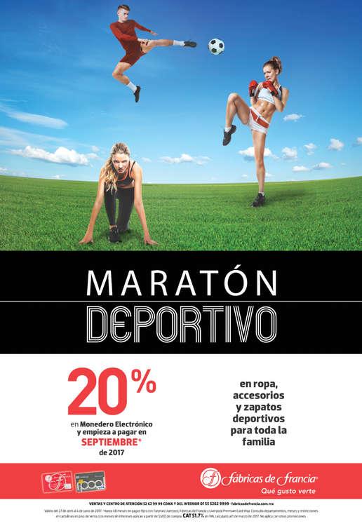 Ofertas de Fábricas de Francia, Maratón Deportivo