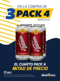 En la compra de 3 Pack 4 Victoria, el 4o a mitad de precio
