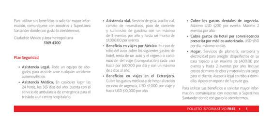 Ofertas de Santander, Santander Free