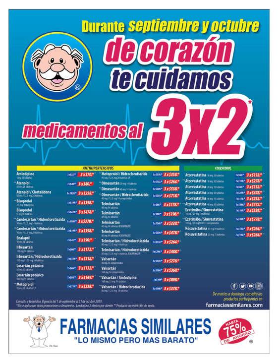 Ofertas de Farmacias Similares, Medicamentos al 3x2