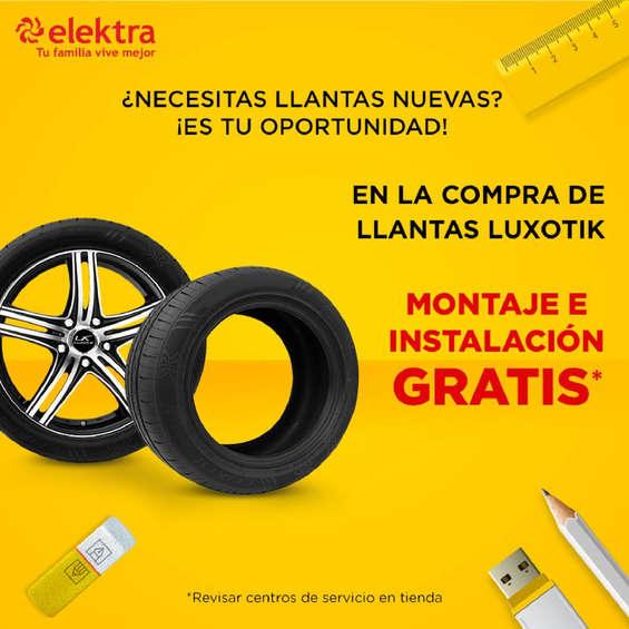 Ofertas de Elektra, Promo llantas