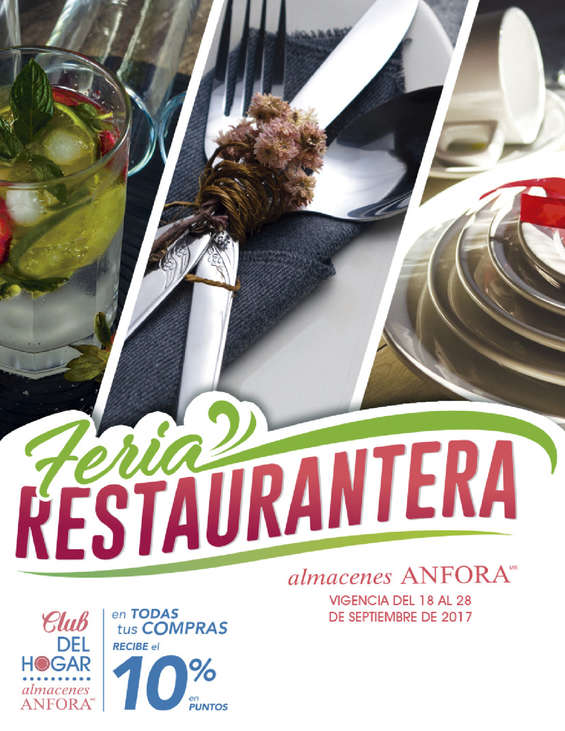 Ofertas de Almacenes Anfora, Feria Restaurantera