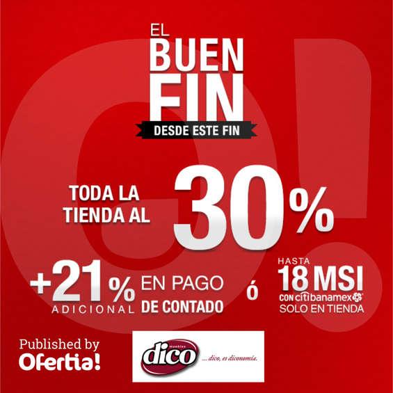 Ofertas de MUEBLERÍAS DICO, Promociones Buen Fin