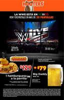 Ofertas de Hooters, WWE en México