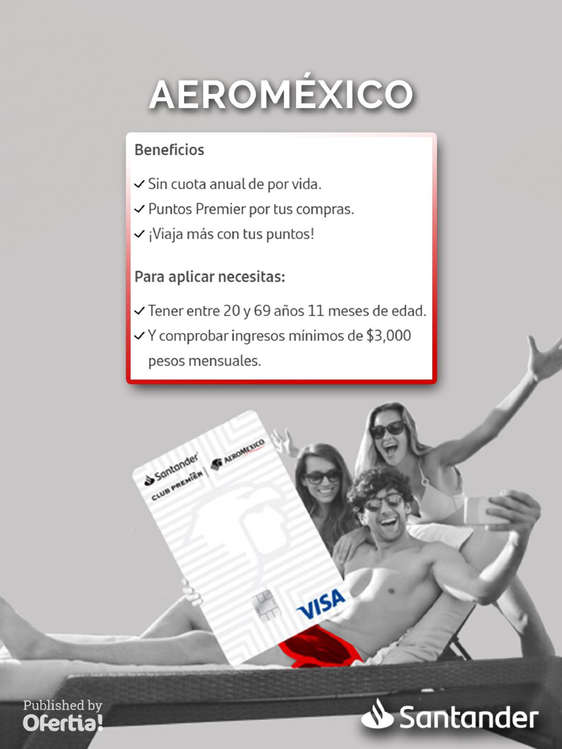 Ofertas de Santander, TC Santander Aeroméxico