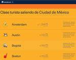 Ofertas de Aeromexico, Clase turista
