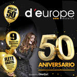 Ofertas de D'Europe, Descuentos del 50 aniversario d'europe