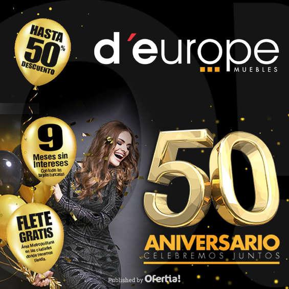 Ofertas de D'Europe, Descuentos del 50 aniversario d'europe