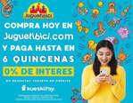 Ofertas de Juguetibici, Paga en 6 quincenas
