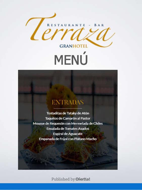 Ofertas de Terraza, Menú