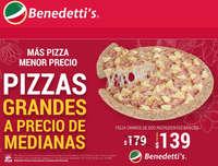 Pizzas grandes a precio de medianas