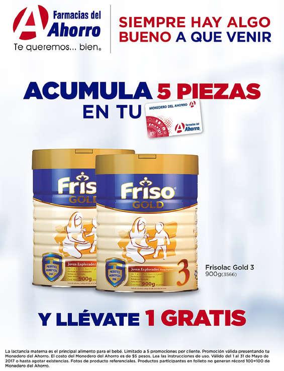 Ofertas de Farmacias del Ahorro, Plan de Lealtad / Frisolac Gold 3
