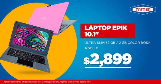 Ofertas de Famsa, Laptop Epik