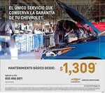 Ofertas de Chevrolet, Mantenimiento básico
