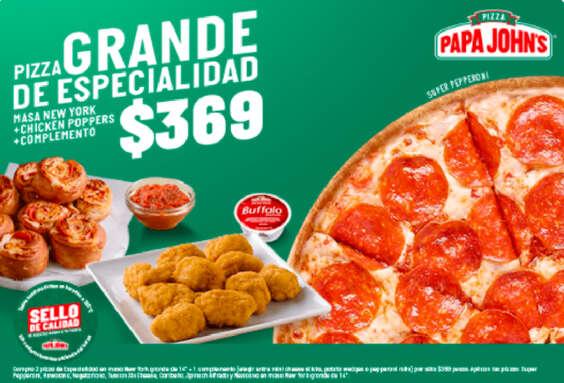 Ofertas de Papa John's, Pizza grande de especialidad $369